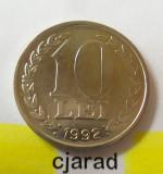 Moneda 10 Lei - ROMANIA, anul 1992 *cod 1586