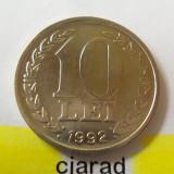 Moneda 10 Lei - ROMANIA, anul 1992 *cod 1586 - Moneda Romania