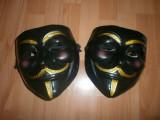 Masca Anonymous, Guy Fawkes, Masca V for Vendetta Negru, Rezistenta, Marime universala, Masura unica, Din imagine