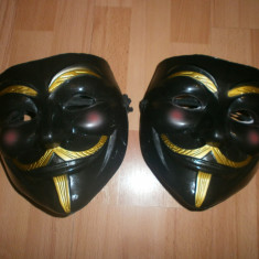 Masca Anonymous, Guy Fawkes, Masca V for Vendetta Negru, Rezistenta, Marime universala