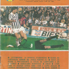 Program meci Sportul Studentesc - FC Arges / Regia fotbalistica (1989)