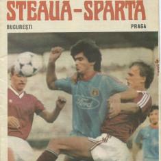Program meci Steaua - Sparta Praga (1988)