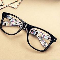 Rame ochelari model DESIGNER FASHION design rame desen colorat husa cadou
