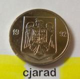 Moneda 5 Lei - ROMANIA 1992  *cod 1582 - UNC: posibile urme manipulare - sac BNR