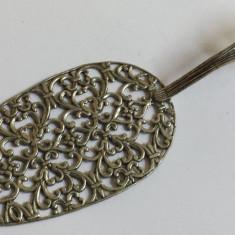 Paleta Tort argint veche Splendida executata manual in detalii Superbe de Efect, Tacamuri