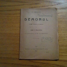 MIHAIL LERMONTOV - Demonul - poema tradusa de Ioan R. Radulescu - Iasi, 1920 - Carte poezie