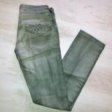 Blugi / jeans gri Lee Cooper / marimea 25 - Blugi dama Lee Cooper, Marime: Alta, Lungi