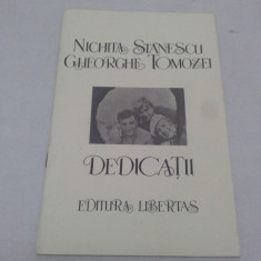 NICHITA STĂNESCU GHEORGHE TOMOZEI DEDICAȚII / 1991 - Carte poezie