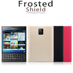 Husa BlackBerry Passport Super Frosted by Nillkin Black - Husa Telefon Blackberry, Negru, Plastic, Fara snur, Carcasa