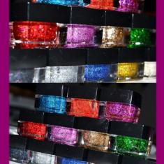 SET 12 geluri unghii gel UV manichiura CU SCLIPICI + CADOU - Gel unghii