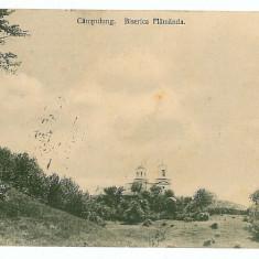 2976 - Arges, CAMPULUNG, Church Flamanda - old postcard - used - 1911 - Carte Postala Muntenia 1904-1918, Circulata, Printata