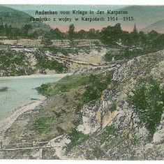 2970 - Maramures, river & bridge - old postcard, CENSOR - used - 1915, Circulata, Printata