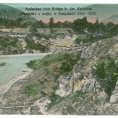 2970 - Maramures, river & bridge - old postcard, CENSOR - used - 1915 - Carte Postala Maramures 1904-1918, Circulata, Printata