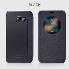 Husa Samsung Galaxy S6 Edge Plus S-VIEW Sparkle Leather By Nillkin Black, Negru, Alt material