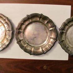 GE - Set 3 farfurioare argintate marcaj STEFANI Bologna