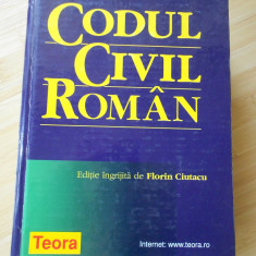 CODUL CIVIL ROMAN - 2001 - Carte Drept civil