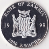 Republica Zambia - 1000 Kwacha 1999 - Proof