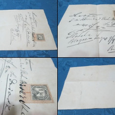 ACTE3 vechi Romania. Act vechi Lugoj, timbrat si datat- 09 09 1887