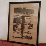 Gravura Gy. Szabo Bela - Pictor roman, Natura, Cerneala, Altul
