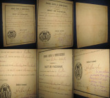 ACTE1 vechi Romania: Act de vaccinare-Serviciul Sanitar Comuna Bucuresci 1880.
