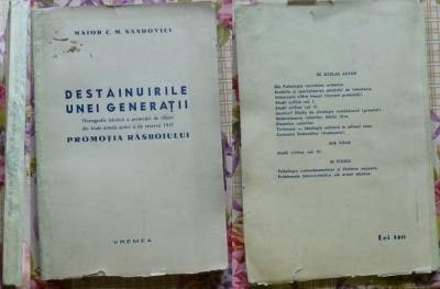 Sandovici , Destainuirile unei generatii , Monografia Promotiei de Ofiteri 1917 foto