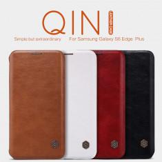 Husa Samsung Galaxy S6 Edge Plus Flip Case Qin Leather By Nillkin Black - Husa Telefon Samsung, Negru, Piele Ecologica, Cu clapeta, Toc