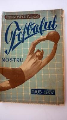"""Carte  """"FOTBALUL  NOSTRU  1905-1957"""" foto"""