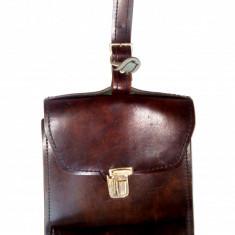 Gentuta/ borseta tip porthart vintage din piele sintetica, anii '60