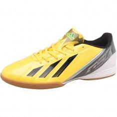 Adidas Mens F10 Indoor Football - Adidasi barbati, Marime: 39 1/3, 44, Culoare: Galben, Piele sintetica
