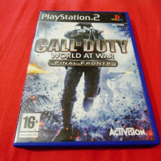 Joc Call of Duty World at War Final Fronts, PS2, original, alte sute de jocuri! - Jocuri PS2 Activision, Shooting, 16+, Single player