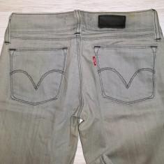 Blugi / jeans Levi`s 473 Skinny Fit - gri / marimea 26 - Blugi dama Levi's, Marime: Alta, Lungi