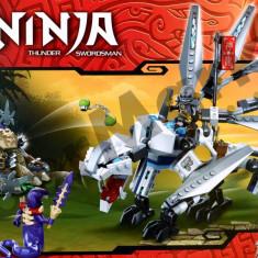 Set de constructie Ninja Thunder Swordsman SY338 cu 387 piese - Jocuri Seturi constructie