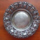 FRUCTIERA, FARFURIE, ALAMA ARGINTATA, MARCATA - Metal/Fonta, Vase