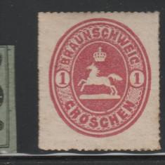 Braunschweig - state germane - mi nr 10, 18 - 1857 - nestampilat