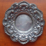 FRUCTIERA, FARFURIE, ALAMA ARGINTATA - Metal/Fonta, Vase