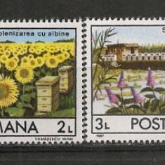 Romania.1987 Apicultura CR.740 - Timbre Romania, Nestampilat