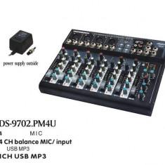 PROMOTIE ! MIXER PROFESIONAL 7 CANALE, EFECTE, EGALIZATOR, mp3 PLAYER, SUNET HI FI. - Mixer audio