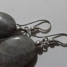 Finuti Cercei Argint Vintage cu Piatra Semipretioasa executati manual Clasici