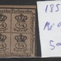 Braunschweig - state germane - mi nr 9 - 1857 - nestampilat