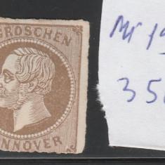 Hannover - state germane - timbru nestampilat - mi. nr: 19 - 1861