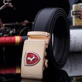 Curea de piele pafta Ferrari curele barbati catarama logo auto +CADOU!