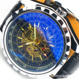 Ceas Casual Full Automatic Jaragar Casual Fashion Cadran XL Barbatesc CALITATE, Mecanic-Automatic, Carbon