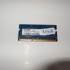 Memorie RAM laptop SODIMM DDR3 1GB Elpida ( DDR 3 1 GB notebook ) (BO406), 1066 mhz