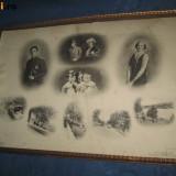KABINET FOTO VECHI cca 1900-30. Familia regala belgiana- foto originala mare. - Fotografie, Romania 1900 - 1950