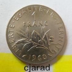 Moneda 1 Franc - Franta, 1960 *cod 1706, Europa