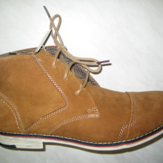 Pantofi barbati piele WINK;cod HL5439-1;marime:42-46 - Ghete barbati Wink, Marime: 44, 45, Culoare: Mustar, Piele naturala