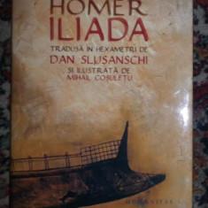 Iliada / Homer ; ed. critica de D. Slusanschi si ilustr. de M. Cosuletu - Carte poezie