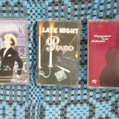 MAURICE CHEVALIER / LATE NIGHT PIANO / FLAMENCO LOS ALHAMA - 3 CASETE AUDIO! - Muzica Ambientala