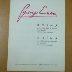 George Enescu partitura doina colectia Alecsandri 1955 Enesco - Carte Arta muzicala