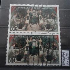 2 Timbre Germania stampilate-Deutsche Bundespost-1989-MC1430 - Timbre straine